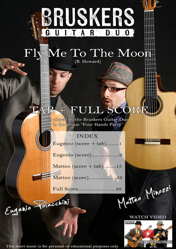 Fly Me To The Moon by Bruskers Guitar Duo