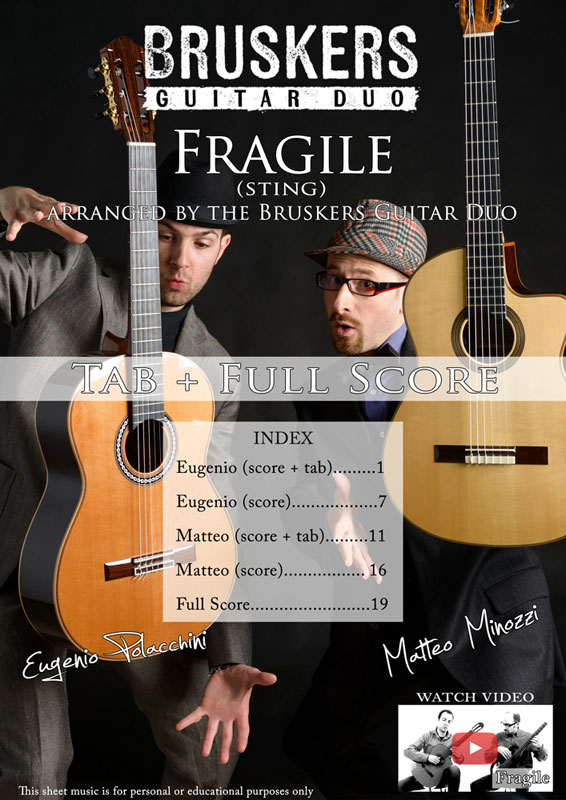 Fragile by Bruskers Guitar Duo