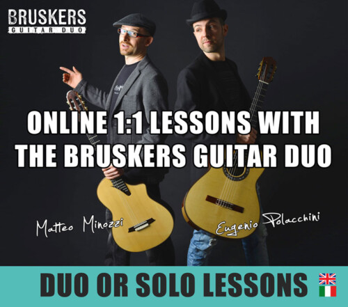 Online lessons with the Bruskers Guitar Duo