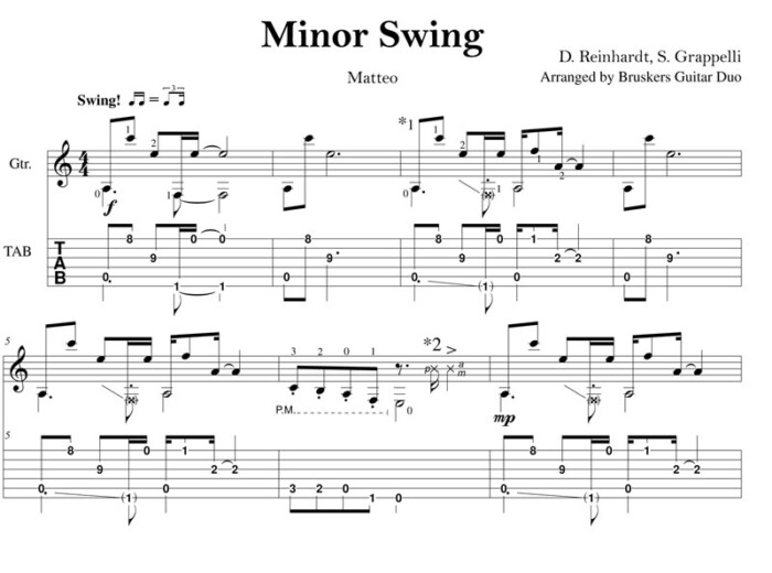 Minor Swing by Bruskers Guitar Duo