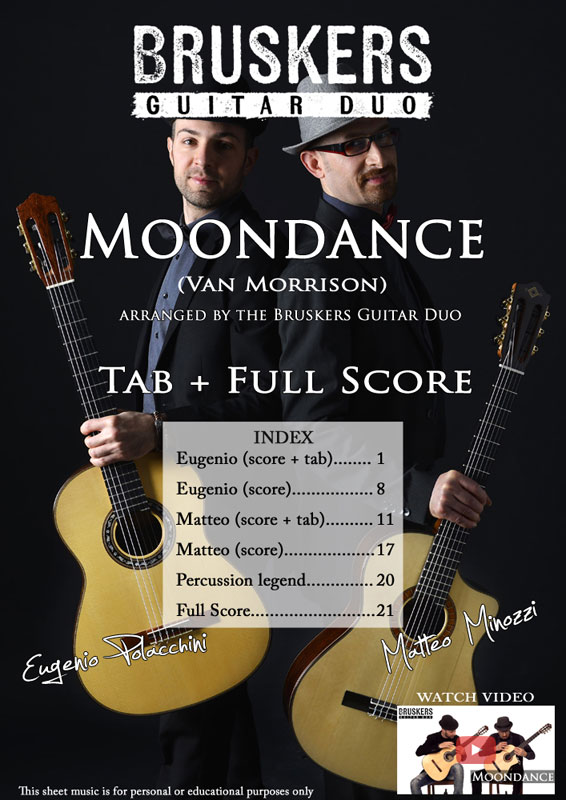 Moondance by Bruskers Guitar Duo