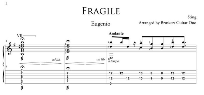 Fragile-fragment-Bruskers Guitar Duo