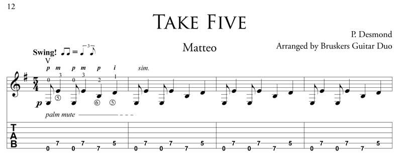 Take-Five-fragment-Bruskers Guitar Duo